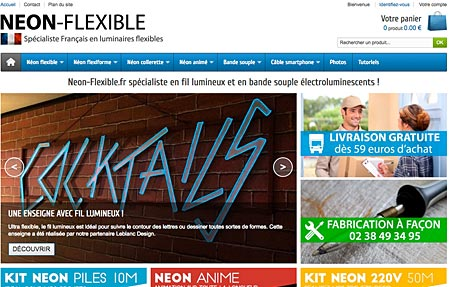 Capture d'écran du site NEON-FLEXIBLE.fr